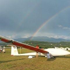 Flugwegposition um 16:37:42: Aufgenommen in der Nähe von 05018 Orvieto, Terni, Italien in 1622 Meter