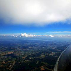 Flugwegposition um 12:41:20: Aufgenommen in der Nähe von Kreis Zalaegerszeg, Ungarn in 1991 Meter