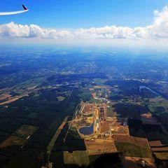 Flugwegposition um 12:47:01: Aufgenommen in der Nähe von Kreis Zalaegerszeg, Ungarn in 1905 Meter