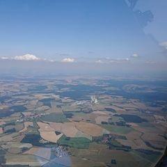 Flugwegposition um 12:43:25: Aufgenommen in der Nähe von Okres Písek, Tschechien in 2087 Meter