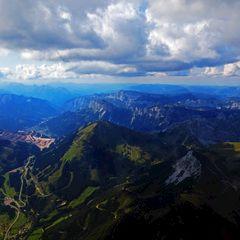 Flugwegposition um 13:43:12: Aufgenommen in der Nähe von Eisenerz, Österreich in 2705 Meter
