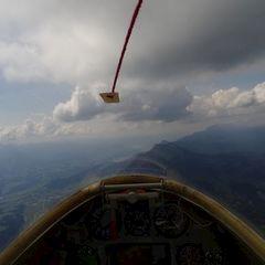 Flugwegposition um 10:12:58: Aufgenommen in der Nähe von Gußwerk, Österreich in 1996 Meter
