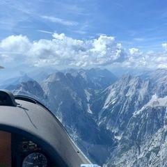 Verortung via Georeferenzierung der Kamera: Aufgenommen in der Nähe von Gemeinde Vomp, Österreich in 3000 Meter