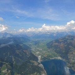 Flugwegposition um 12:45:51: Aufgenommen in der Nähe von Gemeinde Zell am See, 5700 Zell am See, Österreich in 2293 Meter