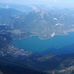 Flugwegposition um 16:23:23: Aufgenommen in der Nähe von Gemeinde Faistenau, 5324 Faistenau, Österreich in 2287 Meter