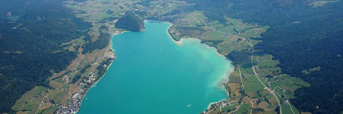 Flugwegposition um 11:08:01: Aufgenommen in der Nähe von Gemeinde St. Gilgen, Österreich in 2205 Meter