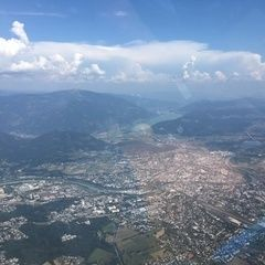 Verortung via Georeferenzierung der Kamera: Aufgenommen in der Nähe von Villach, Österreich in 2000 Meter