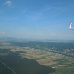 Flugwegposition um 17:57:23: Aufgenommen in der Nähe von Wiener Neustadt, Österreich in 526 Meter