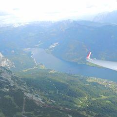 Flugwegposition um 15:12:19: Aufgenommen in der Nähe von Wiener Neustadt, Österreich in 608 Meter