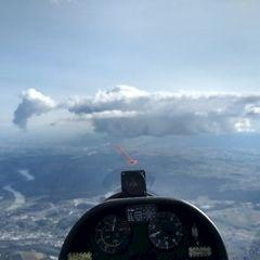 Flugwegposition um 14:45:53: Aufgenommen in der Nähe von Passau, Deutschland in 2209 Meter