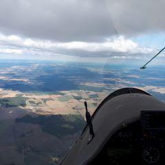 Flugwegposition um 14:45:47: Aufgenommen in der Nähe von Okres Tachov, Tschechien in 2342 Meter