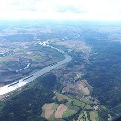 Flugwegposition um 13:17:13: Aufgenommen in der Nähe von Regensburg, Deutschland in 1940 Meter