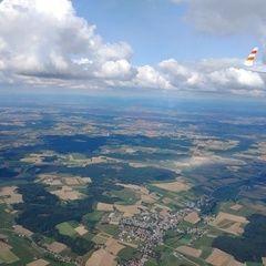 Flugwegposition um 12:08:31: Aufgenommen in der Nähe von Rottal-Inn, Deutschland in 1853 Meter