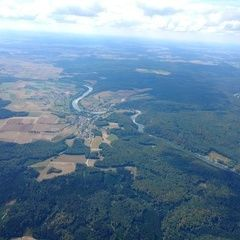 Flugwegposition um 12:56:31: Aufgenommen in der Nähe von Kelheim, Deutschland in 1705 Meter