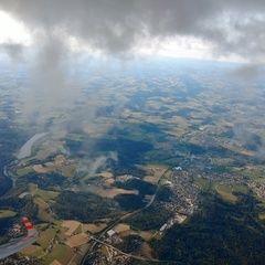 Flugwegposition um 16:15:53: Aufgenommen in der Nähe von Niederbayern, Deutschland in 2205 Meter