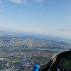 Flugwegposition um 16:20:34: Aufgenommen in der Nähe von Passau, Deutschland in 1723 Meter