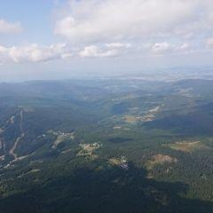 Flugwegposition um 12:01:38: Aufgenommen in der Nähe von Okres Klatovy, Tschechien in 1907 Meter