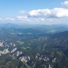 Flugwegposition um 14:44:32: Aufgenommen in der Nähe von Gemeinde Mitterbach am Erlaufsee, Österreich in 1790 Meter