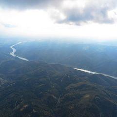 Flugwegposition um 14:47:05: Aufgenommen in der Nähe von Gemeinde Bergern im Dunkelsteinerwald, Österreich in 2051 Meter