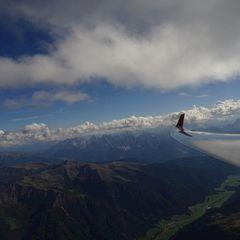 Flugwegposition um 12:39:20: Aufgenommen in der Nähe von Gemeinde St. Jakob in Defereggen, 9963, Österreich in 3456 Meter