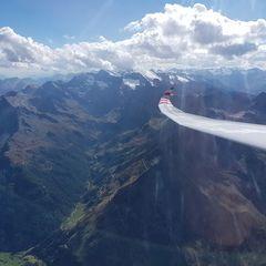 Flugwegposition um 13:36:18: Aufgenommen in der Nähe von 39013 Moos in Passeier, Bozen, Italien in 3402 Meter