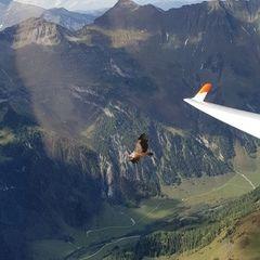 Flugwegposition um 12:52:24: Aufgenommen in der Nähe von Gemeinde Rauris, 5661, Österreich in 2721 Meter