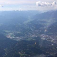 Flugwegposition um 13:30:30: Aufgenommen in der Nähe von Leoben, 8700 Leoben, Österreich in 2645 Meter