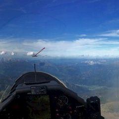Flugwegposition um 13:11:41: Aufgenommen in der Nähe von Gemeinde Gaal, Österreich in 3347 Meter