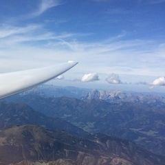 Flugwegposition um 13:09:37: Aufgenommen in der Nähe von Gemeinde Gaal, Österreich in 3316 Meter