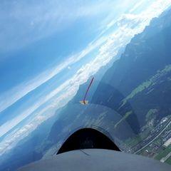 Flugwegposition um 13:37:52: Aufgenommen in der Nähe von Innsbruck, Österreich in 1999 Meter