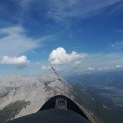 Flugwegposition um 14:34:48: Aufgenommen in der Nähe von Innsbruck, Österreich in 2428 Meter