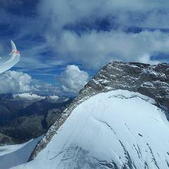 Flugwegposition um 13:04:27: Aufgenommen in der Nähe von Gemeinde Schmirn, 6154, Österreich in 3187 Meter