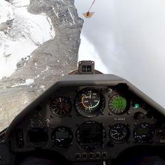 Flugwegposition um 15:08:18: Aufgenommen in der Nähe von Gemeinde Vals, 6154 Vals, Österreich in 3136 Meter