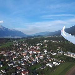 Flugwegposition um 15:51:37: Aufgenommen in der Nähe von Innsbruck, Österreich in 934 Meter