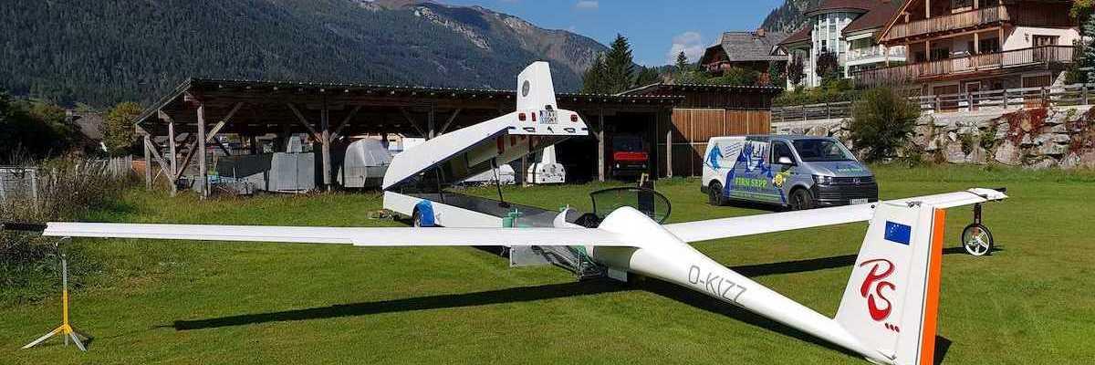 Flugwegposition um 09:27:06: Aufgenommen in der Nähe von Gemeinde Schmirn, 6154, Österreich in 3889 Meter