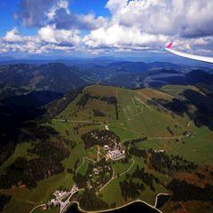 Flugwegposition um 12:59:57: Aufgenommen in der Nähe von Gemeinde Breitenau am Hochlantsch, 8614, Österreich in 1902 Meter