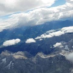 Flugwegposition um 11:57:17: Aufgenommen in der Nähe von Gemeinde Vomp, Österreich in 4379 Meter