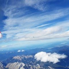 Flugwegposition um 11:56:04: Aufgenommen in der Nähe von Gemeinde Vomp, Österreich in 4377 Meter