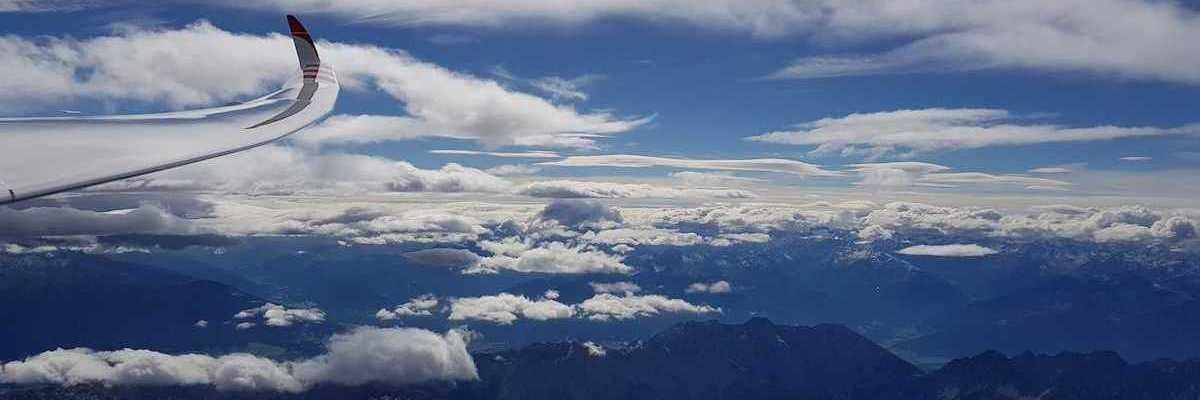 Flugwegposition um 11:24:05: Aufgenommen in der Nähe von Gemeinde Scharnitz, 6108, Österreich in 4442 Meter