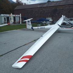 Flugwegposition um 09:53:59: Aufgenommen in der Nähe von Gemeinde Rinn, Rinn, Österreich in 3462 Meter