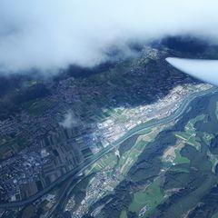 Flugwegposition um 12:20:18: Aufgenommen in der Nähe von Gemeinde Sistrans, Sistrans, Österreich in 3795 Meter