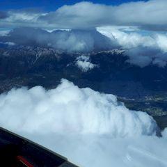Flugwegposition um 12:54:50: Aufgenommen in der Nähe von Gemeinde Ellbögen, Österreich in 4076 Meter