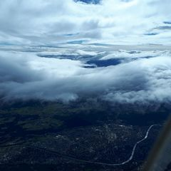 Flugwegposition um 12:12:34: Aufgenommen in der Nähe von Gemeinde Thaur, Thaur, Österreich in 4144 Meter