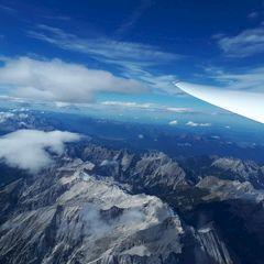 Flugwegposition um 12:08:19: Aufgenommen in der Nähe von Gemeinde Scharnitz, 6108, Österreich in 4445 Meter