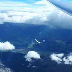 Flugwegposition um 11:56:07: Aufgenommen in der Nähe von Gemeinde Vomp, Österreich in 4403 Meter