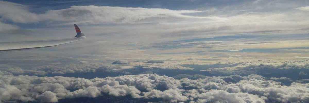 Flugwegposition um 13:25:38: Aufgenommen in der Nähe von Pruggern, Österreich in 4589 Meter