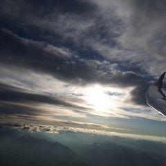 Flugwegposition um 15:33:20: Aufgenommen in der Nähe von Gemeinde Wattenberg, Österreich in 4110 Meter