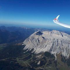 Flugwegposition um 13:32:32: Aufgenommen in der Nähe von Mieming, 6414, Österreich in 3401 Meter
