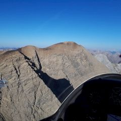 Flugwegposition um 14:22:28: Aufgenommen in der Nähe von Gemeinde Grins, Österreich in 2813 Meter