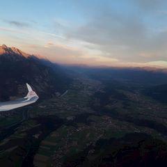 Flugwegposition um 16:15:21: Aufgenommen in der Nähe von Gemeinde Ranggen, Österreich in 1969 Meter